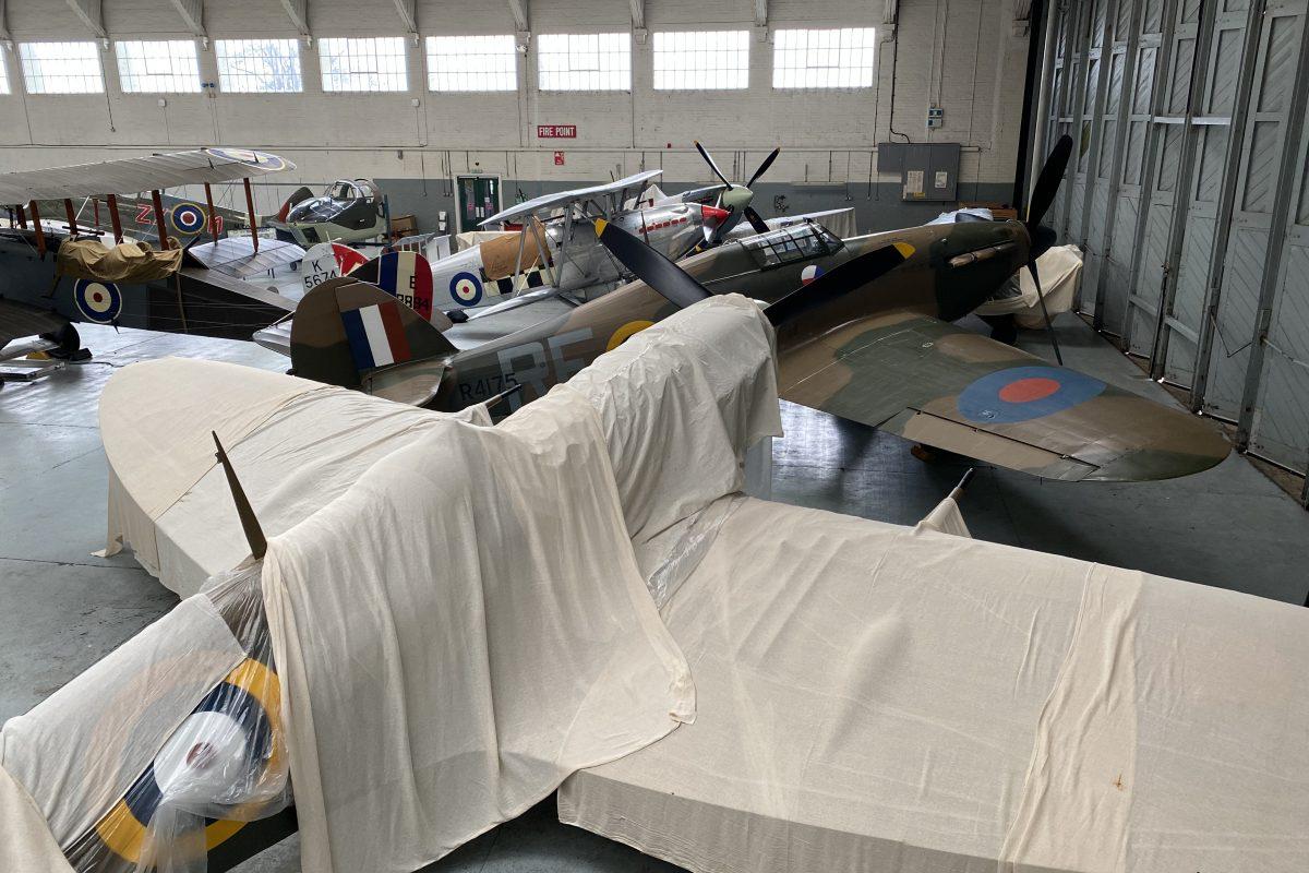 Crammed hangar