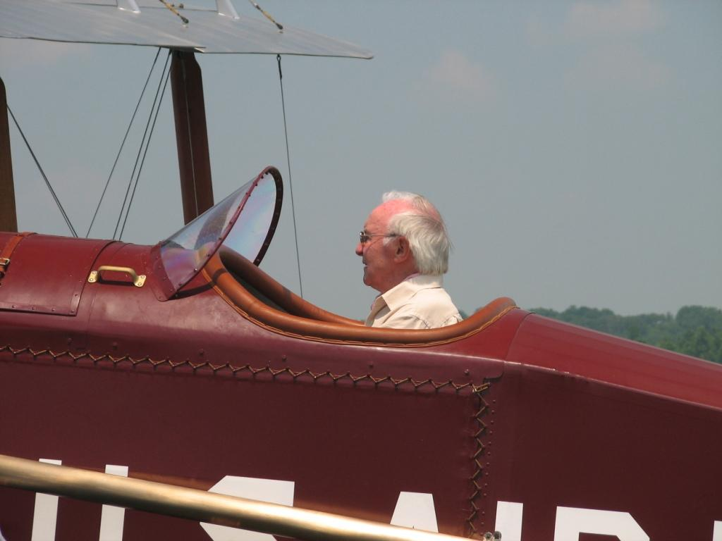 Desmond in the Airco DH4 cockpit